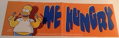 "THE SIMPSONS - BUMPER STICKER -- Homer Simpson ""ME HUNGRY"" --  AUTOCOLLANT"