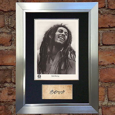 BOB MARLEY Signed Autograph Mounted Photo Reproduction A4 Print 62