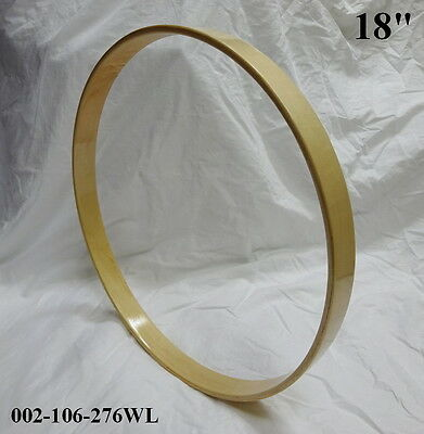 "18"" Maple Bass Drum Hoop / Ring / Rim (Rounded Front) Lacquered 002-106-276WL"