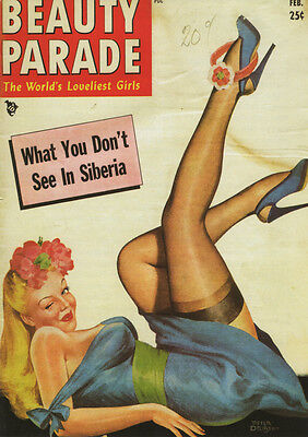 Vintage Peter Driben Pinup Girl Beauty Parade A3 Canvas Giclee Print Framed 4