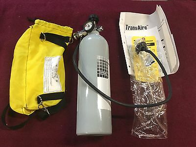 NEW HYDRO  MSA Transaire emergency breathing apperatus 10 min Air Supply REDUCED