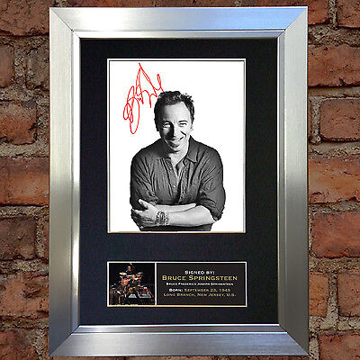 BRUCE SPRINGSTEEN Signed Autograph Mounted Photo Repro A4 Quality Print 161