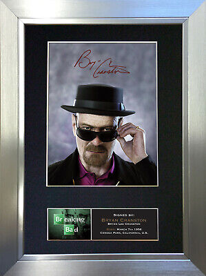 BRYAN CRANSTON Breaking Bad Signed Autograph Mounted Repro Photo A4 Print 431