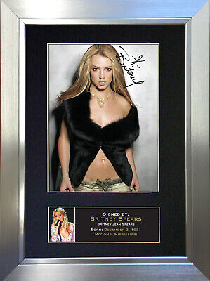 BRITNEY SPEARS Signed Autograph Mounted Photo Repro Quality A4 Print 238