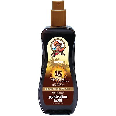 Australian Gold Spray Gel Effetto Bronze SPF 15 LOW PROTECTION