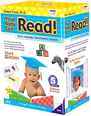 YOUR BABY CAN READ DVD - 5 DVD Boxed Set - FAST FREE US SHIPPING!
