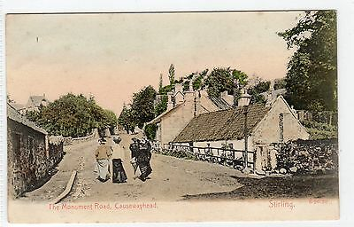 MONUMENT ROAD, CAUSEWAYHEAD, STIRLING: Stirlingshire postcard (C4657).