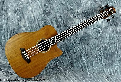 Gold Tone Micro Bass M-Bass25 Fretted Mahogany Acoustic Electric Bass w/Gig Bag