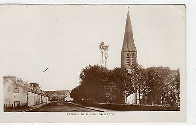 ESTABLISHED CHURCH, DALBEATTIE: Kirkcudbrightshire postcard (C4099).
