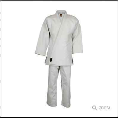 Karate Uniforms Osprey Intl(A Born Fighter) 65/35 Poly Cotton With White Belt