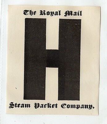 THE ROYAL MAIL STEAM PACKET Co. label (C3402).