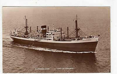 Ss City Of Chicago: Shipping Postcard (C4258).