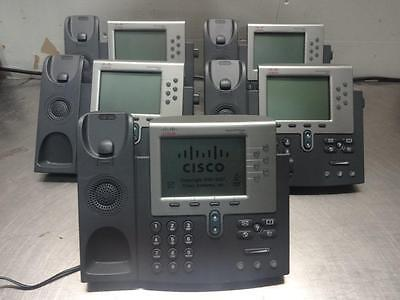 CISCO CP-7961G UNIFIED IP PHONE (Lot of 7)