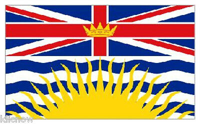 BRITISH COLUMBIA FLAG 5ft X 3FT (Another quality product from Klicnow)
