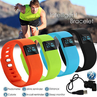 Smart Fitness Wristband Watch Bluetooth Activity Tracker Calorie Sleep
