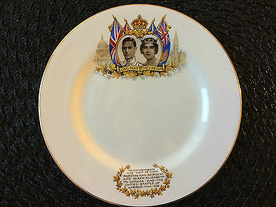 King George VI and Queen Elizabeth1939 Commemorative USA Visit Plate Nelson ware