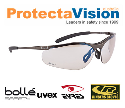 Bolle CONTOUR (SIDEWINDER) Metal or Polycarbonate Frame Safety Sunglasses