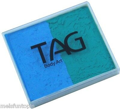 TAG Body Art 50g 2 colour pot - Teal & Light Blue Face and Body Paint Make up