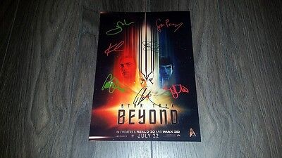 "Star Trek Beyond Cast Pp Signed 12""x8"" A4 Photo Poster Chris Pine Zachary Quinto"