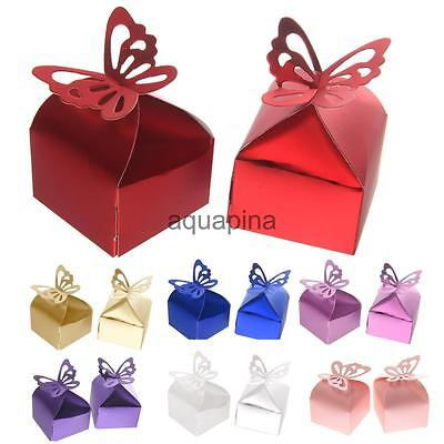 50PCS Butterfly Sweet Candy Cake Gift Boxes Wedding Party Favor Favour Boxes