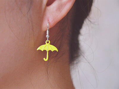 TV Serious How I Met Your Mother Yellow Umbrella Earing Ear Hook 1 pair