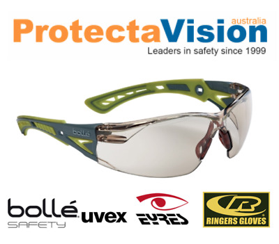 Bolle Rush Plus Safety Glasses smoke/clear/twilight/contrast/ESP/Small/PS