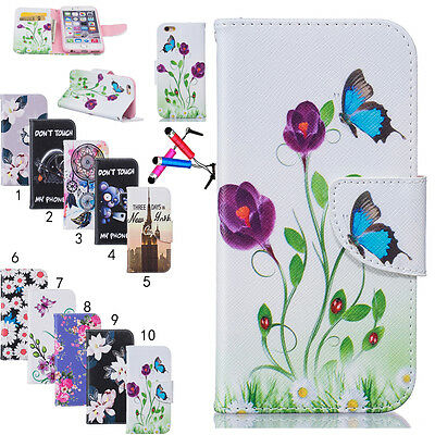 New Painted Flip Stand Magnetic Leather PU Wallet Case Cover For iPhone 6s 6Plus