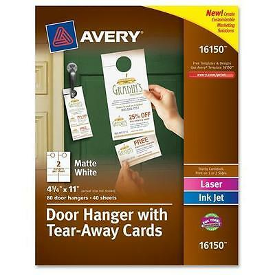 Avery Door Hanger with Tear-Away Cards - White 16150
