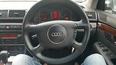 Audi A4 B6 01 02 03 04 05 Steering Wheel Black Leather Without Air Bag