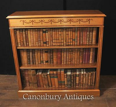 Regency Open Front Bookcase in Satinwood Sheraton Bookcases