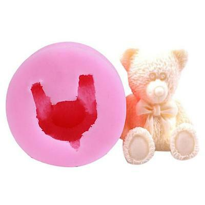3D Bear Shape Silicone Fondant Cake Mould Cookie Decor Cutter Mold Baking Tool