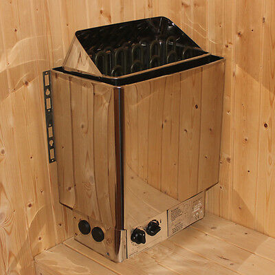 Stainless Steel SAUNA HEATER STOVE for HOME SAUNA BATH SHOWER SPA 3/4.5/6/8/9KW