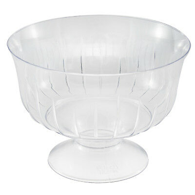 30 x Clear Disposable Plastic Ice Cream Dessert Bowls/Dishes on Pedestal 200ml