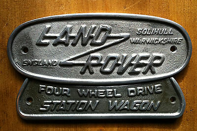 Land Rover Series 1 & 2 Solihull Badges ~ Cast Aluminium Grill Vintage Style
