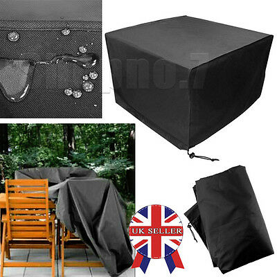 Heavy Duty Waterproof Rattan Cube Cover Garden Outdoor Furniture Rain Protection
