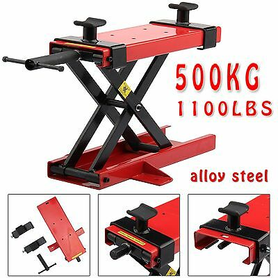 Motorcycle Bike Motorbike Stand Scissor Lift Jack Paddock Workshop Table Bench