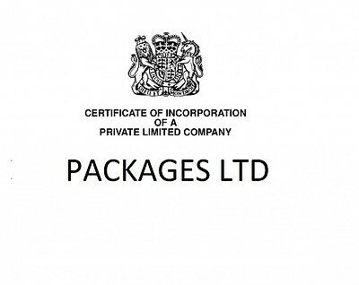 PACKAGES LTD readymade shelf vintage limited company business