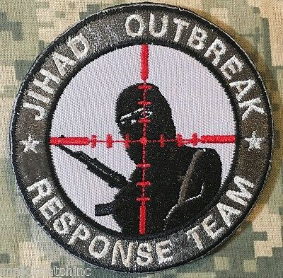 Jihad Outbreak Response Team Infidel Usa Army Acu Velcro® Brand Fastener Patch