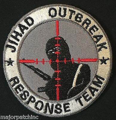 Jihad Outbreak Response Team Infidel Usa Army Swat Velcro® Brand Fastener Patch