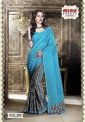 Minu- Indian Saree Soft Party Cotton Pakistani Designer Ethnic Bollywood Sari