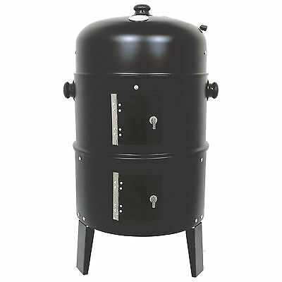 Black BBQ Charcoal Grill Barbecue Smoker Garden Outdoor Steel Free ND Delivery