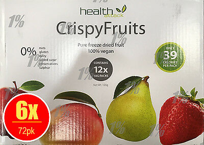 6 x Health Attack Fruits Multibox 12 x 10g Pure Freeze Dried fruit 100% vegan