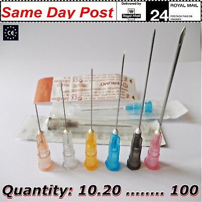Medical Syringes & Needles injection sterile size of 2ml 5ml 10ml x10pcs 100 ink