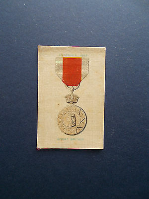 Original Silk Cigarette Cards By Will's - Medals