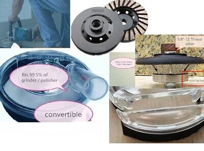 """5"""" Universal Convertible Dust Shroud for Grinder Polisher 2 Grinding cup Wheel"""