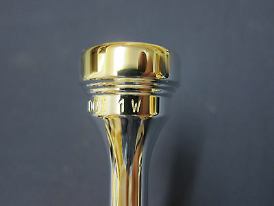 Denis Wick Trumpet Mouthpiece 5882-1W (new) wide rim Silver Plate