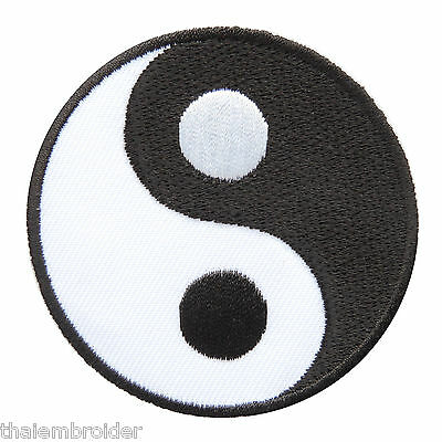 Yin Yang Tao Taoism Black White Symbol Hippie Chinese Peace Iron-On Patch #AU005