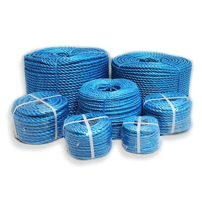 Blue Poly Rope Coils 4mm-32mm Polyrope, Polypropylene, Agriculture, Tarpaulins