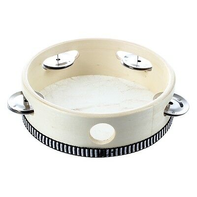 "6"" Musical Tambourine Tamborine Drum Round Percussion for KTV Party DT"
