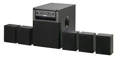 RCA RT151 Home Theater System – 5.1 Channels, 80W Surround Sound, 5 Speakers